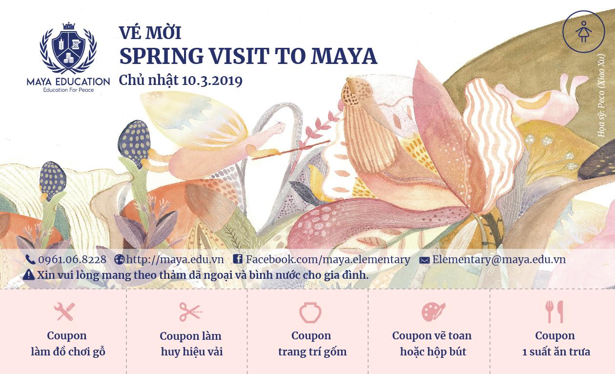"""Thư mời """"Spring visit to Maya"""" – 10/3/2019, Chủ nhật"""