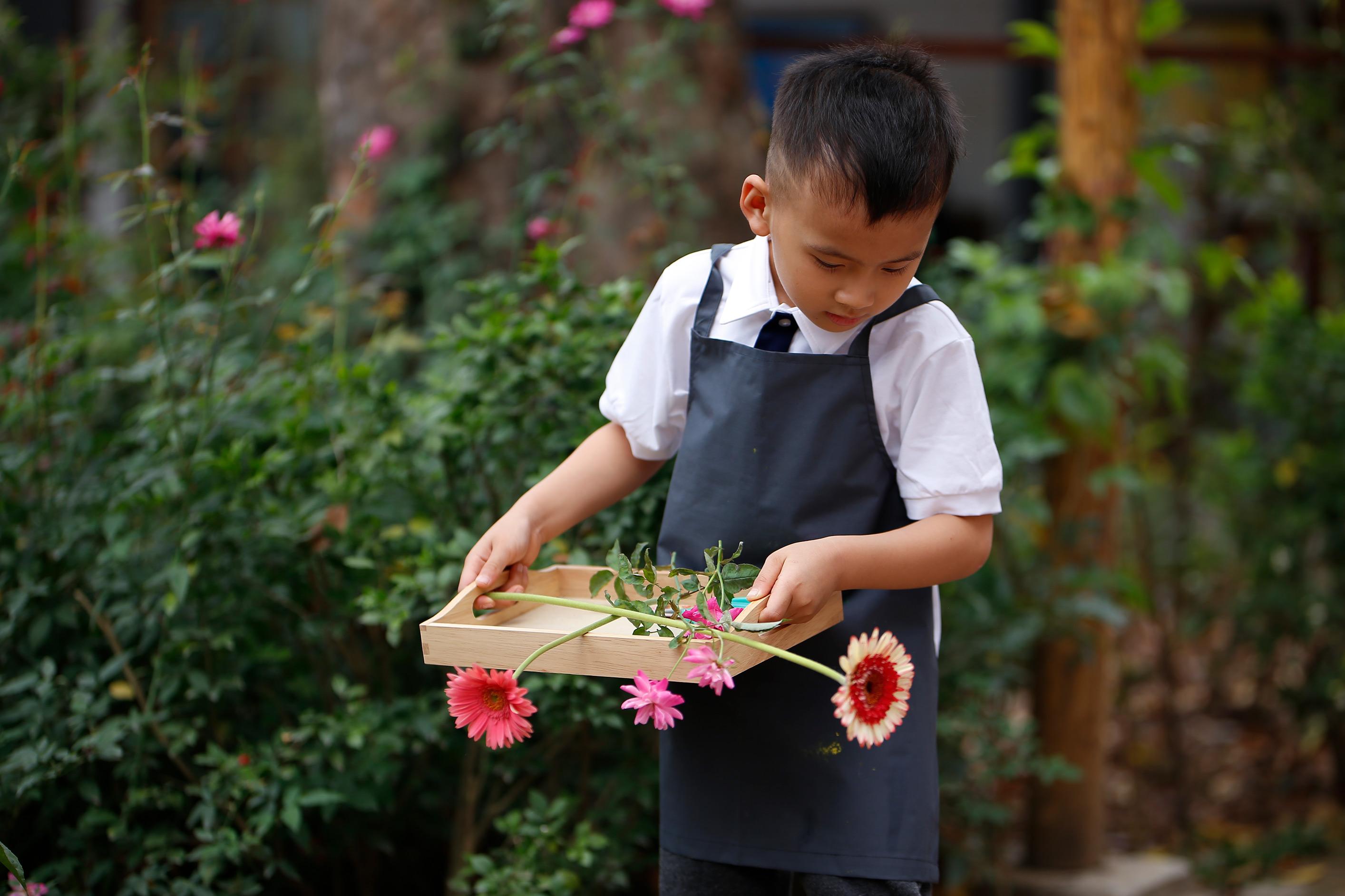 Thực hành kỹ năng cuộc sống trong Lớp học Montessori